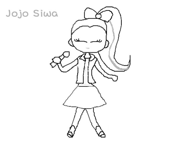 Jojo Siwa Coloring Pages Cartoon