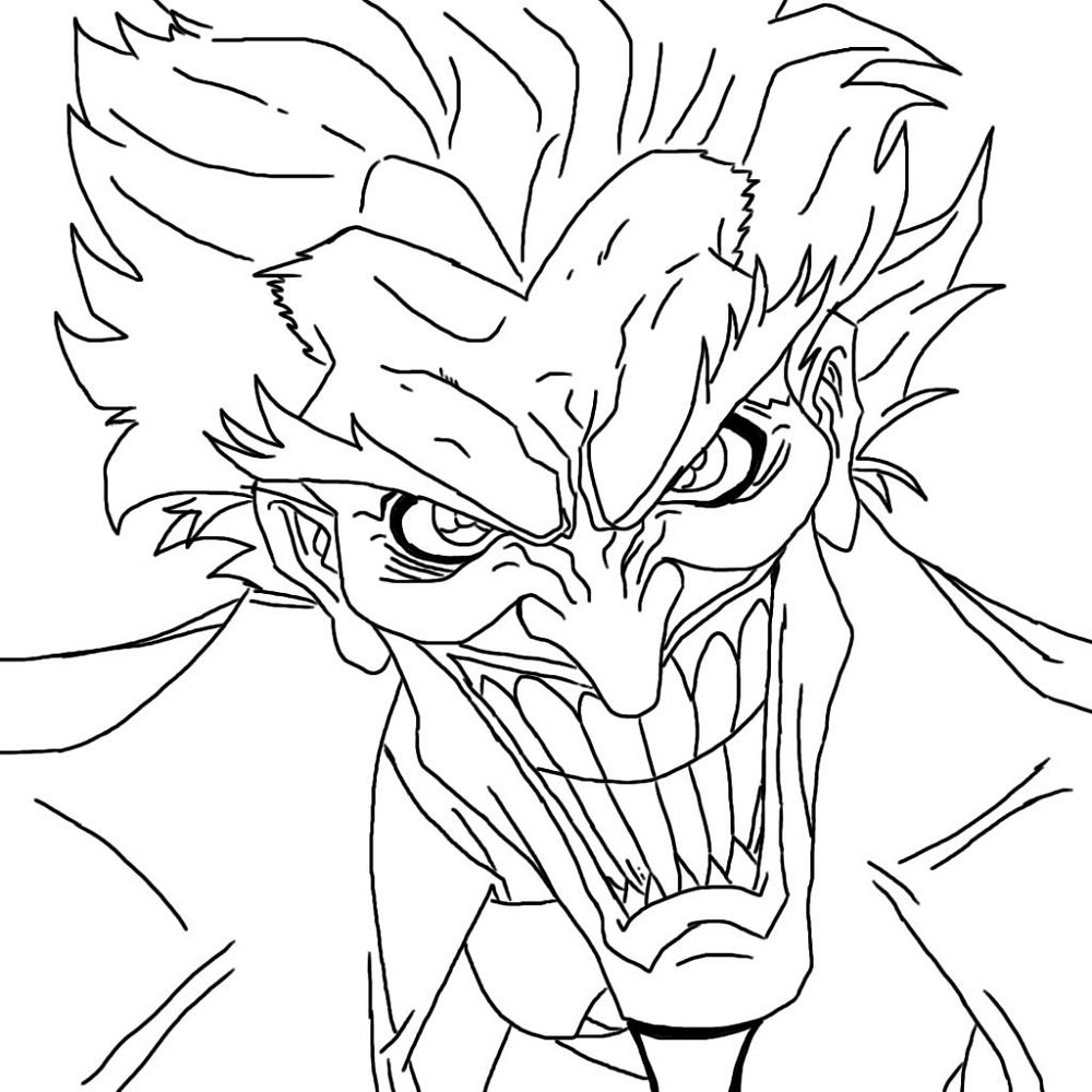 Joker Coloring Pages Face