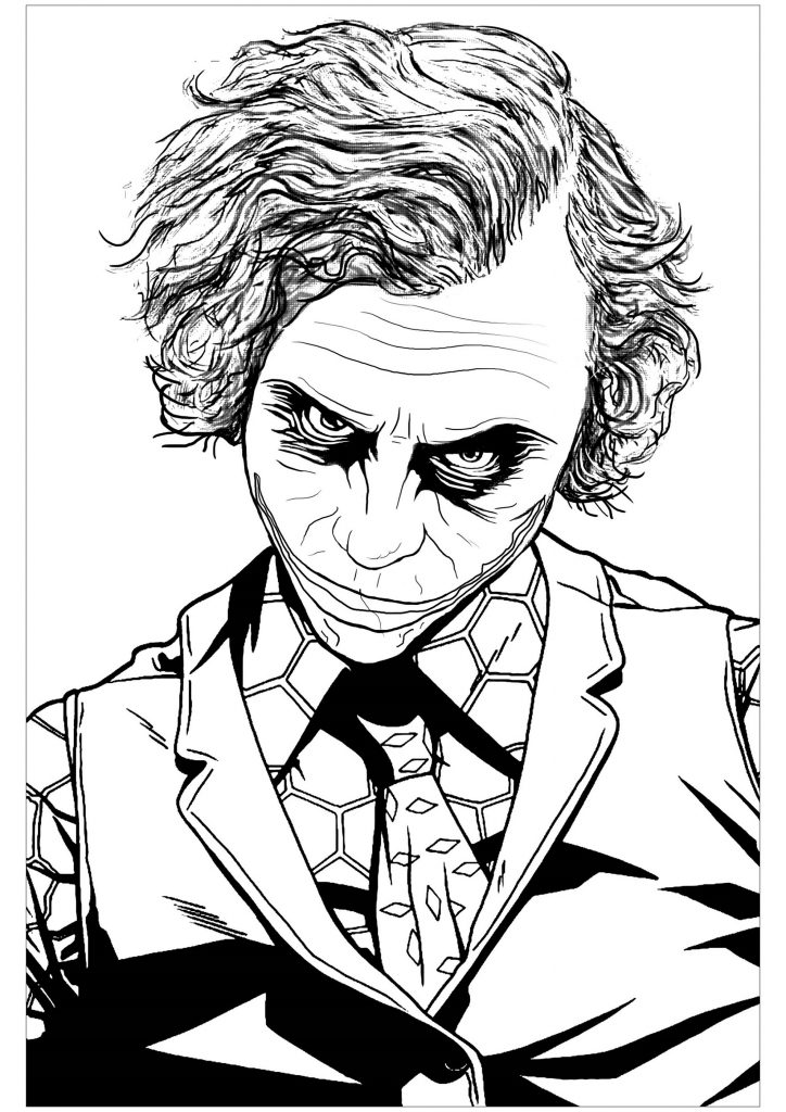 Joker Coloring Pages For Adults