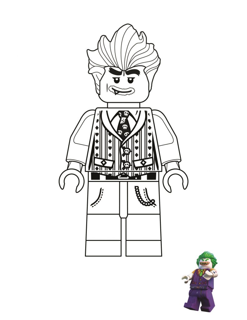 Joker Coloring Pages Lego