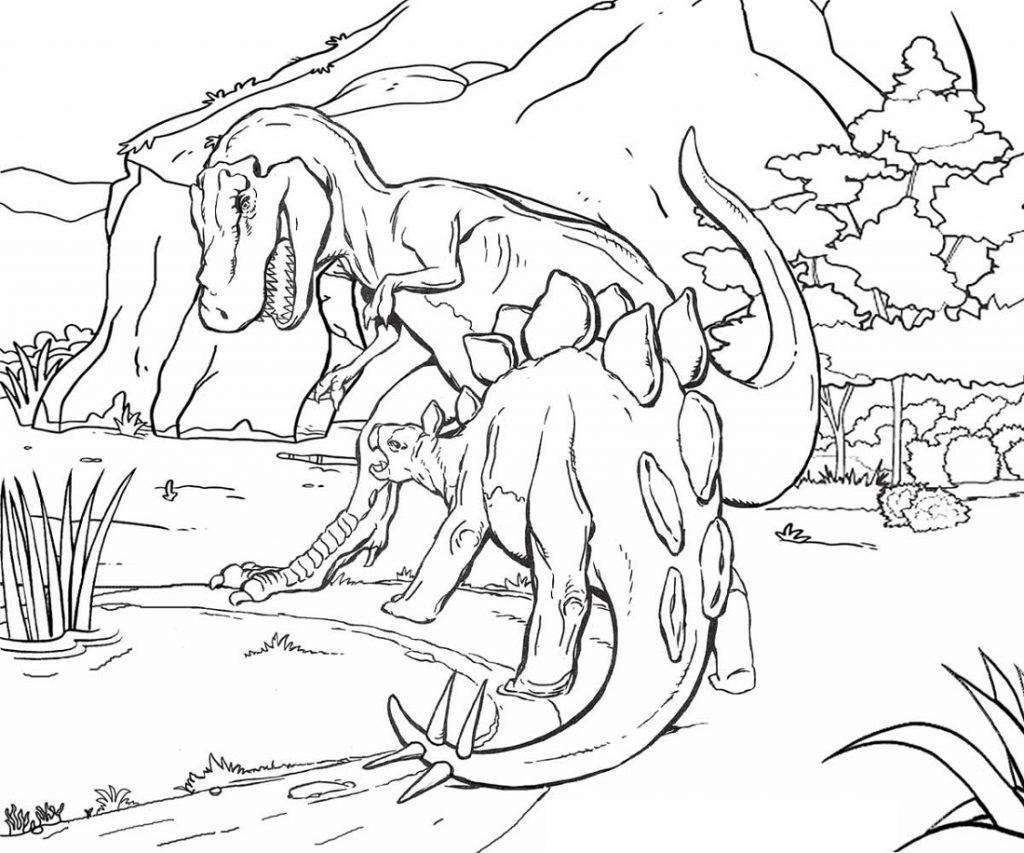 Jurassic Park Coloring Pages To Print
