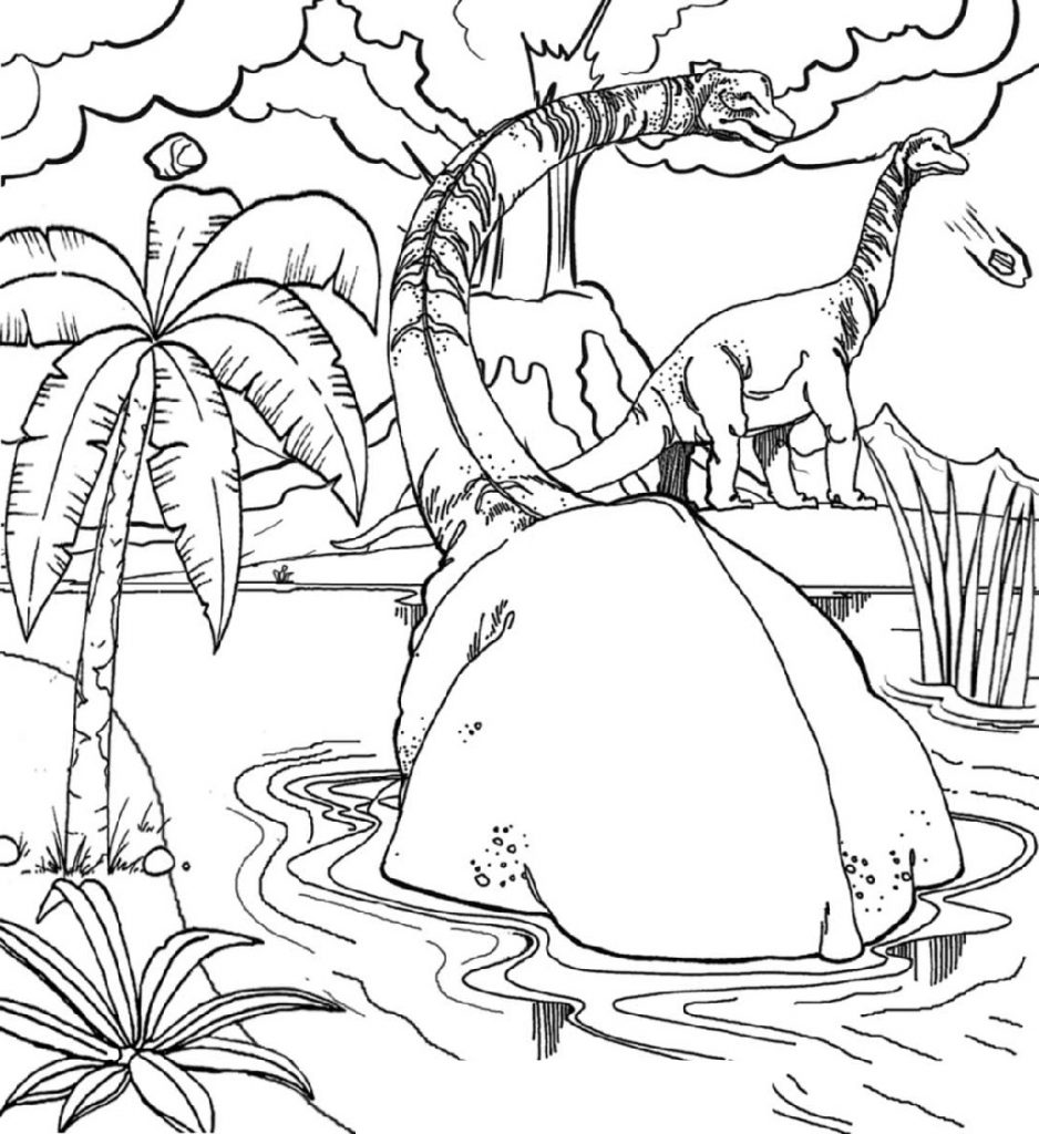 Jurassic World Coloring Pages Dinosaur
