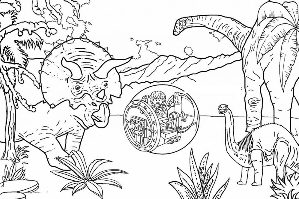 Jurassic World Coloring Pages Lego