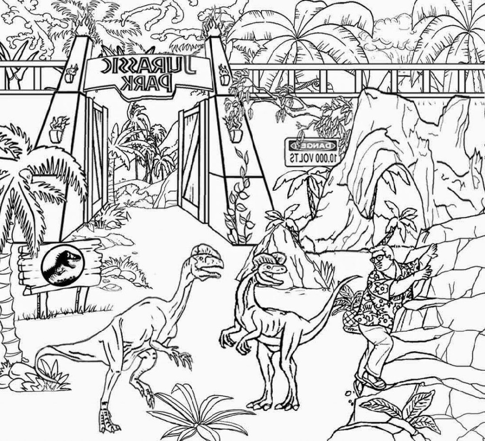 Jurassic World Coloring Pages Movie