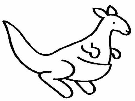 Kangaroo Coloring Page Cartoon