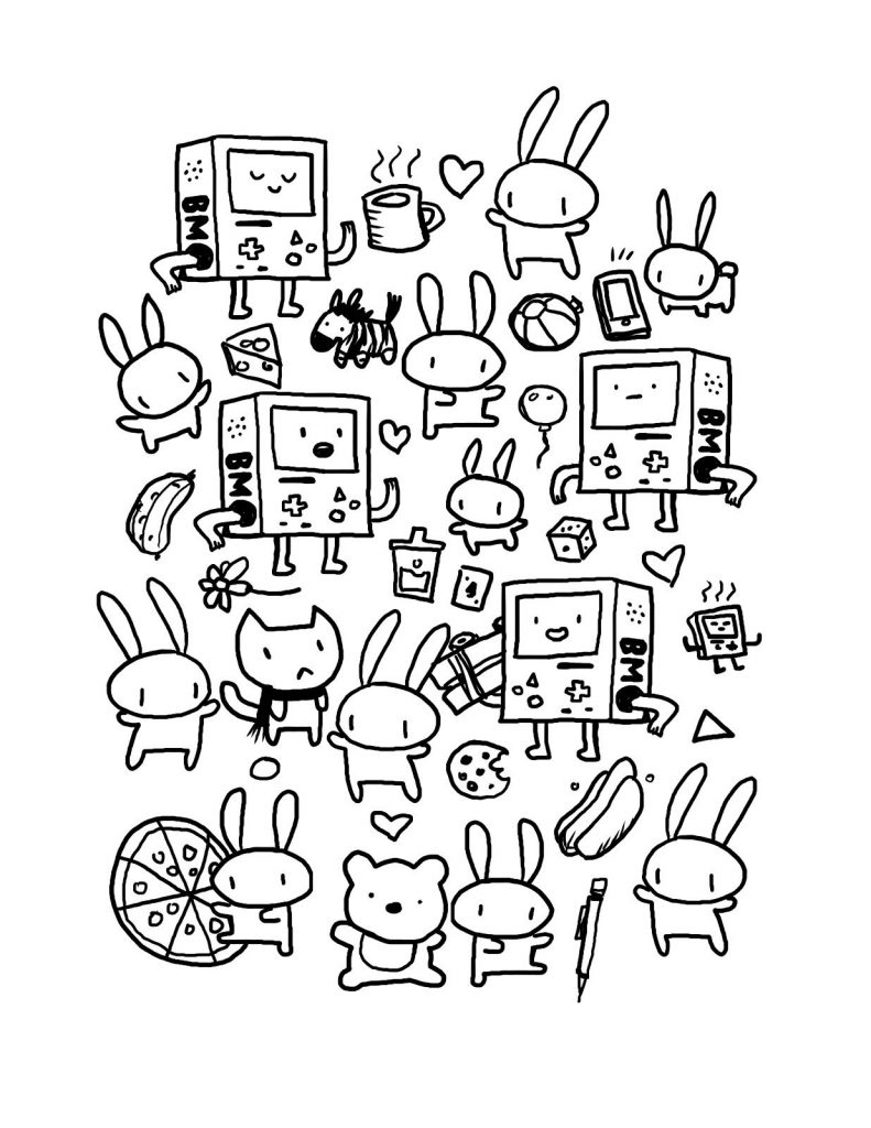 Kawaii Coloring Pages Doodle