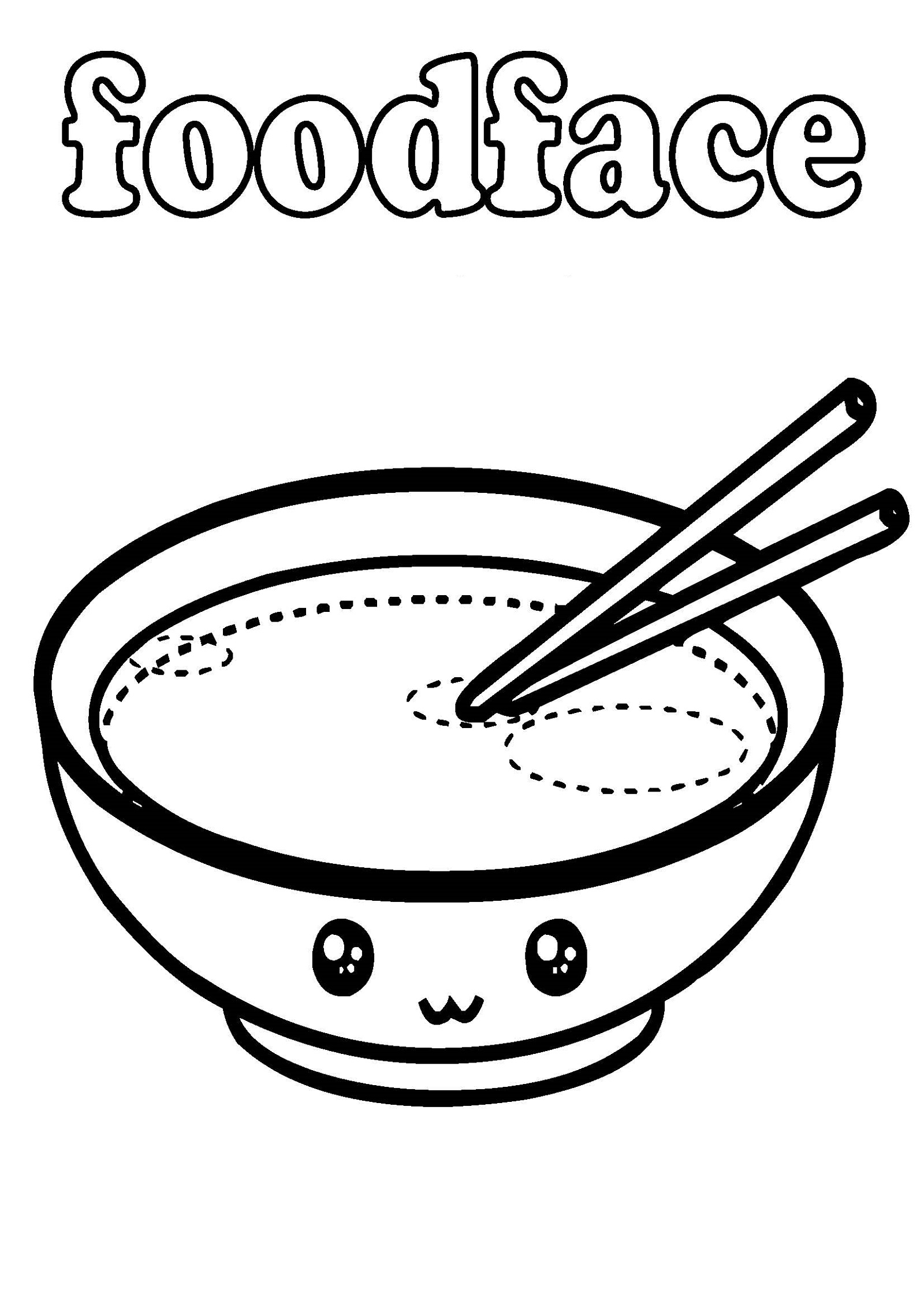 Kawaii Coloring Pages Foods