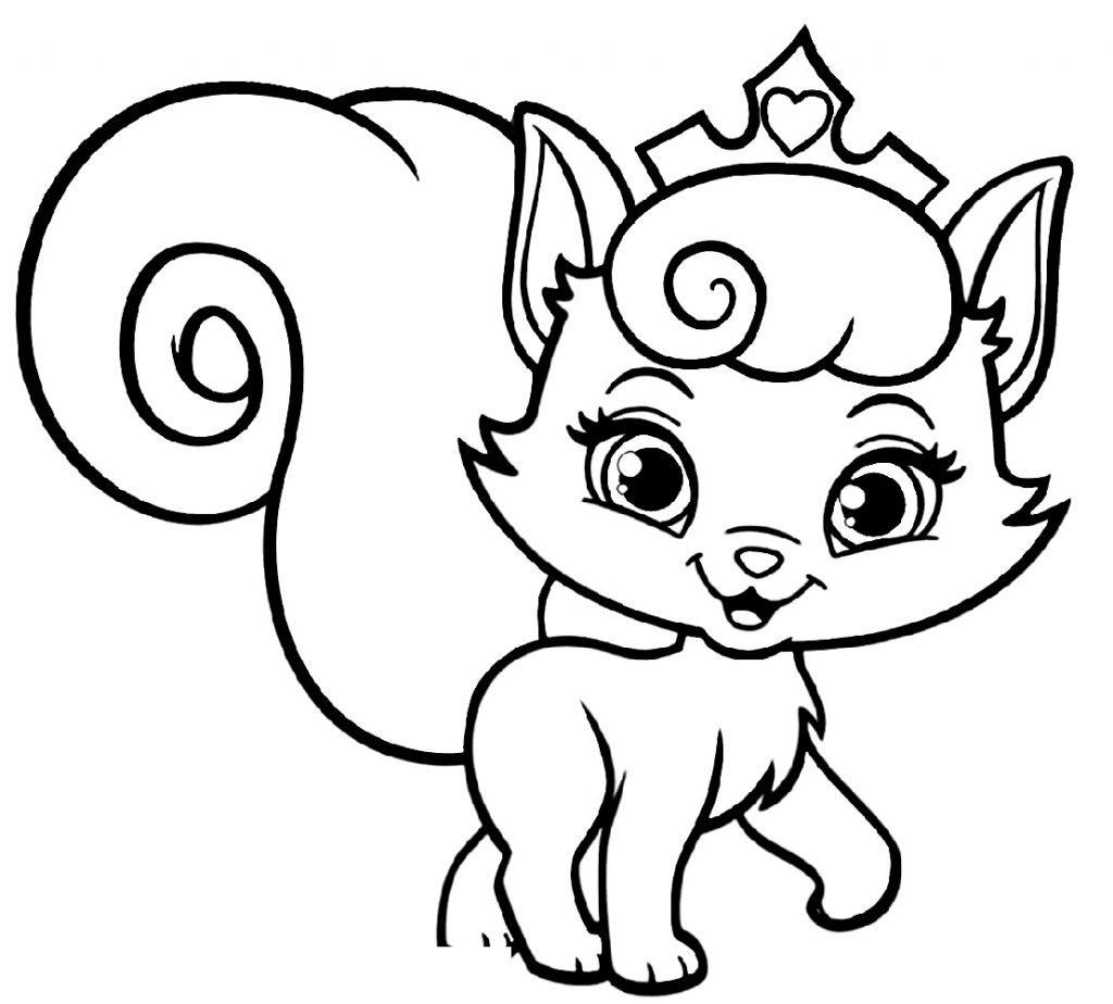 Kitty Cat Coloring Pages Princess