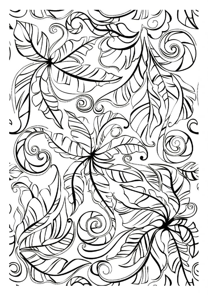 Leaf Coloring Pages For Adults