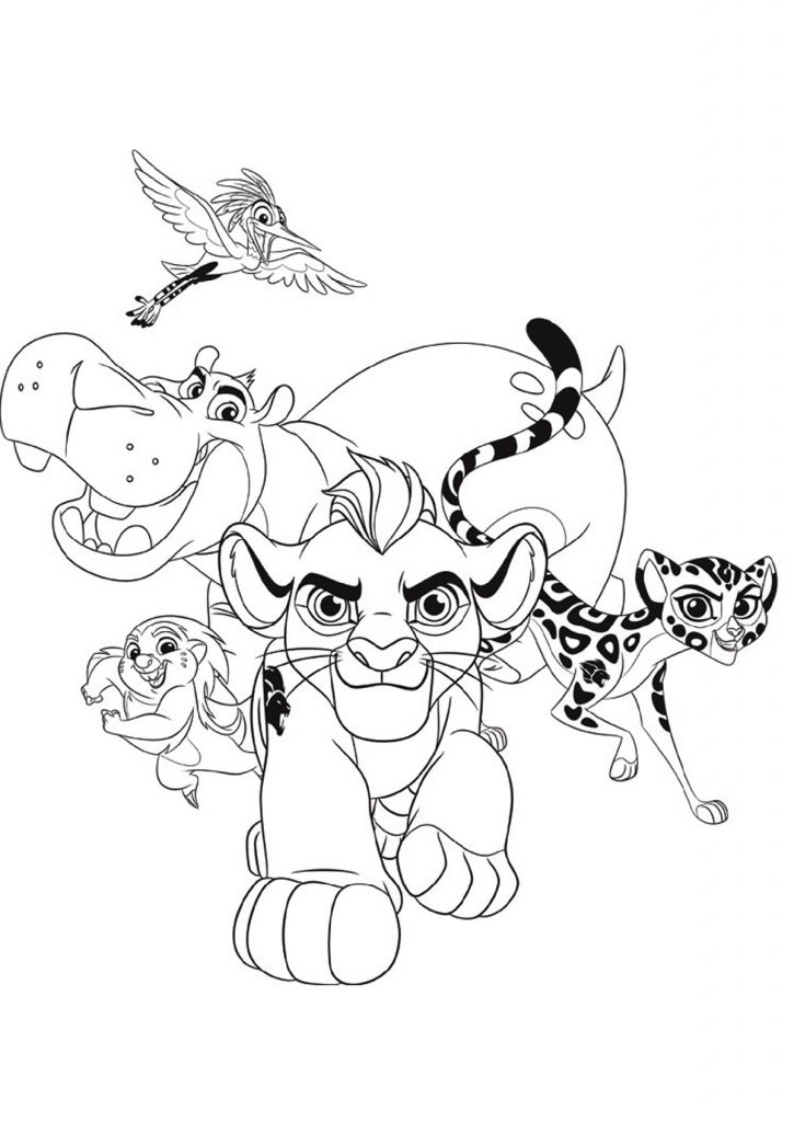Lion King Coloring Pages Cartoon