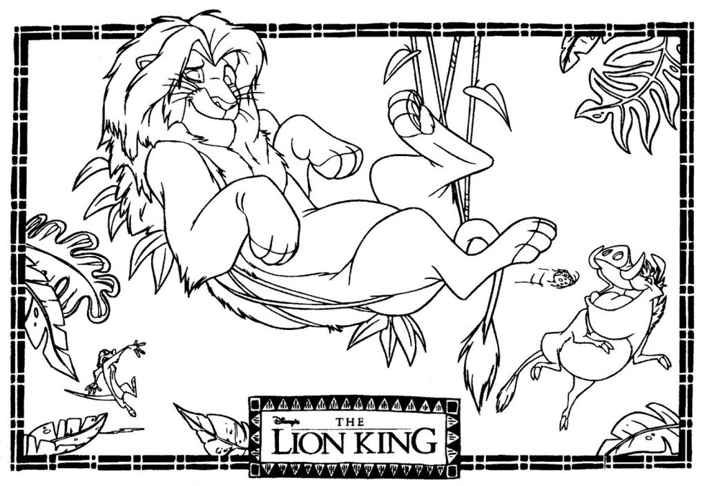Lion King Coloring Pages Disney