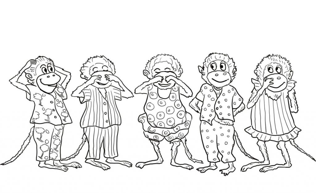 Little Monkey Coloring Pages