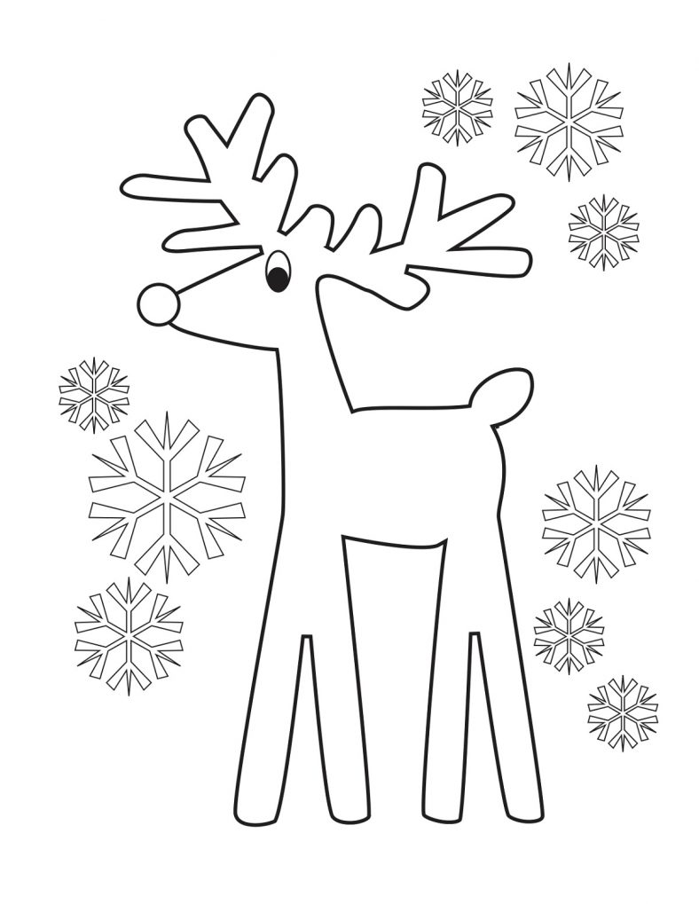 Little Reindeer Coloring Pages