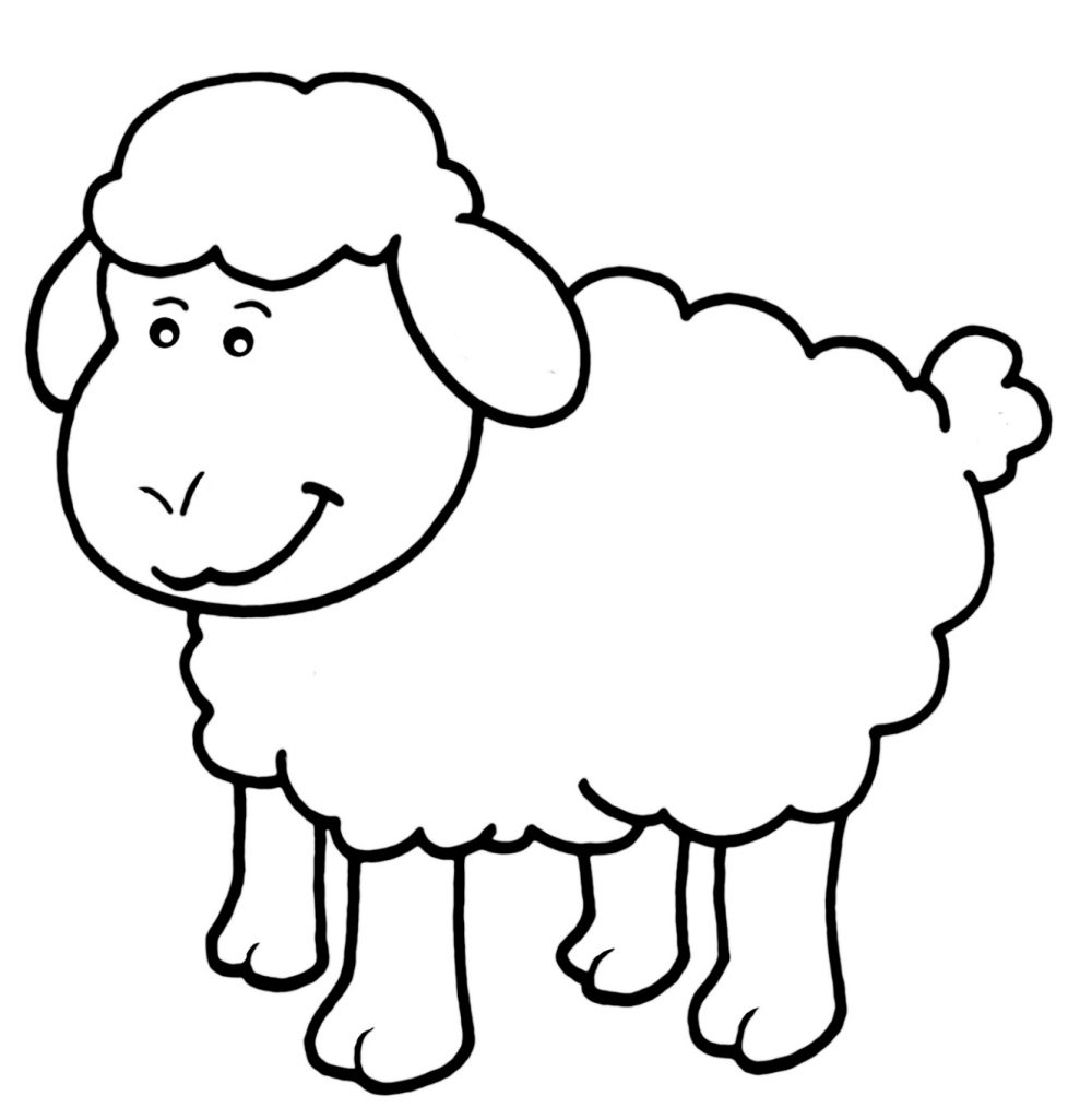 Little Sheep Coloring Page