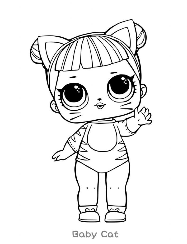 Lol Coloring Baby Cat