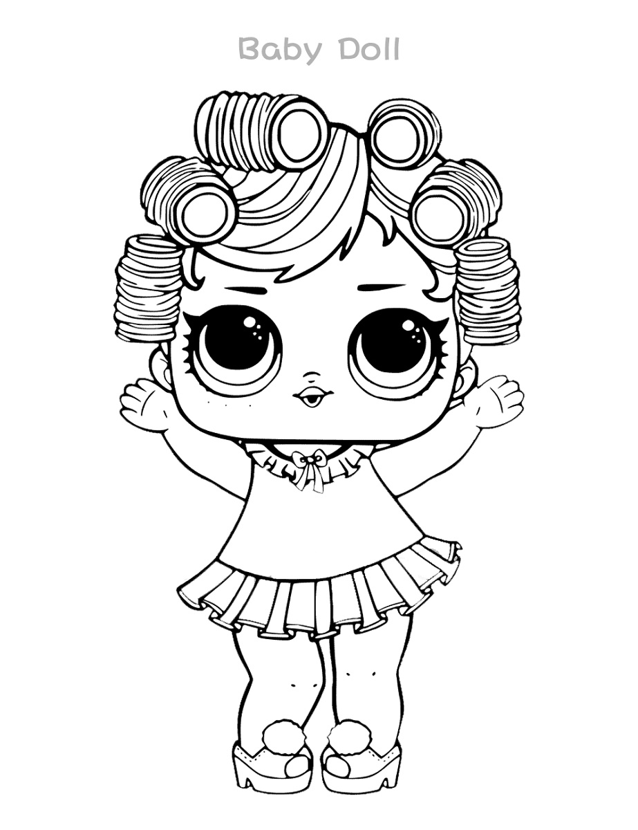 LOL Coloring Pages Baby Doll | 101 Coloring
