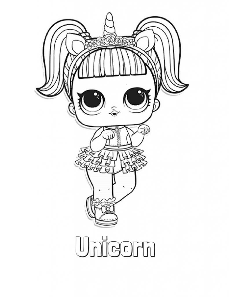 Lol Coloring Pages Unicorn