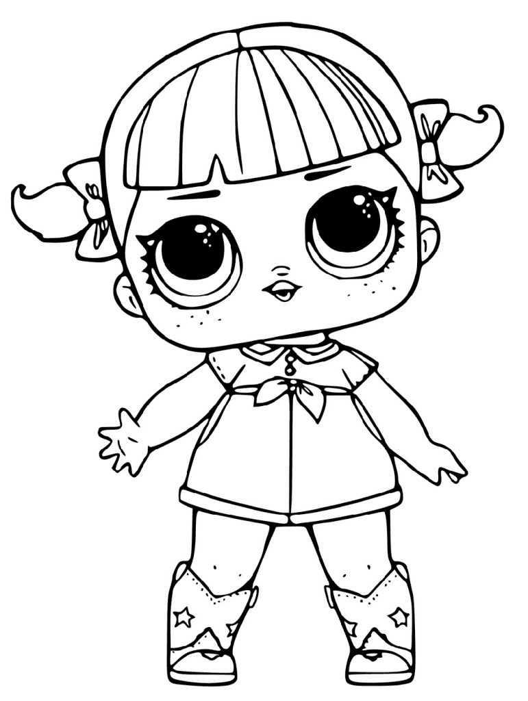Lol Doll Coloring Pages Male
