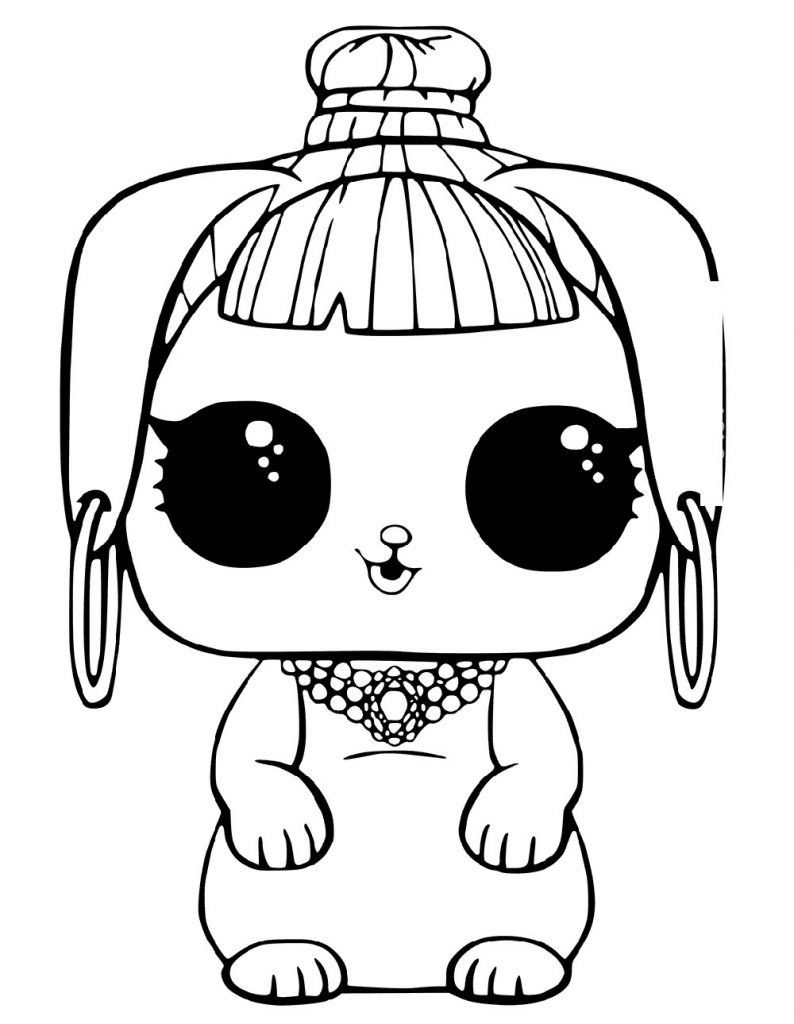 Lol Doll Coloring Pages Pets