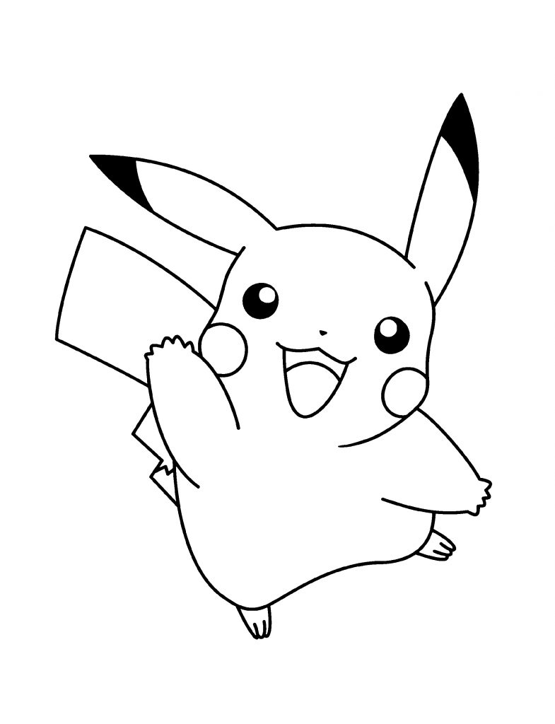 Lovely Pikachu Coloring Pages