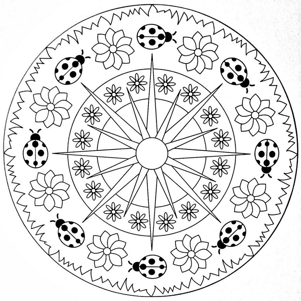Mandala Coloring Book Celestial