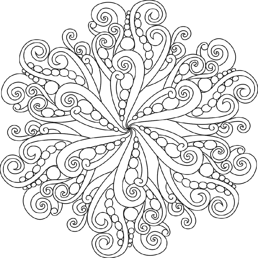 Mandala Coloring Book Easy
