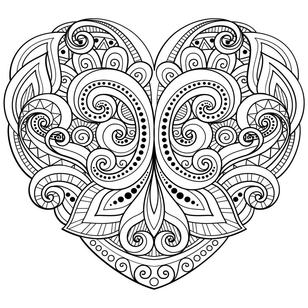 Mandala Coloring Pages Heart