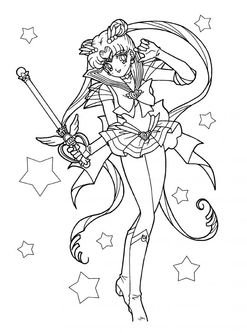 Manga Coloring Pages Sailor Moon