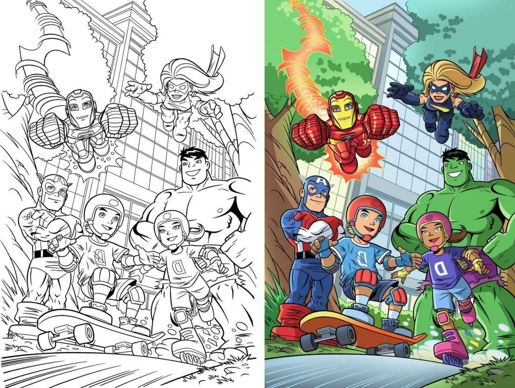 Marvel Coloring Pages Squad