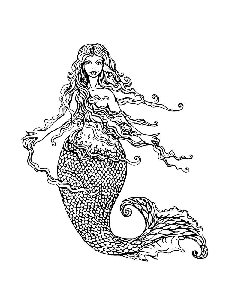 Mermaid Coloring Pages Printable