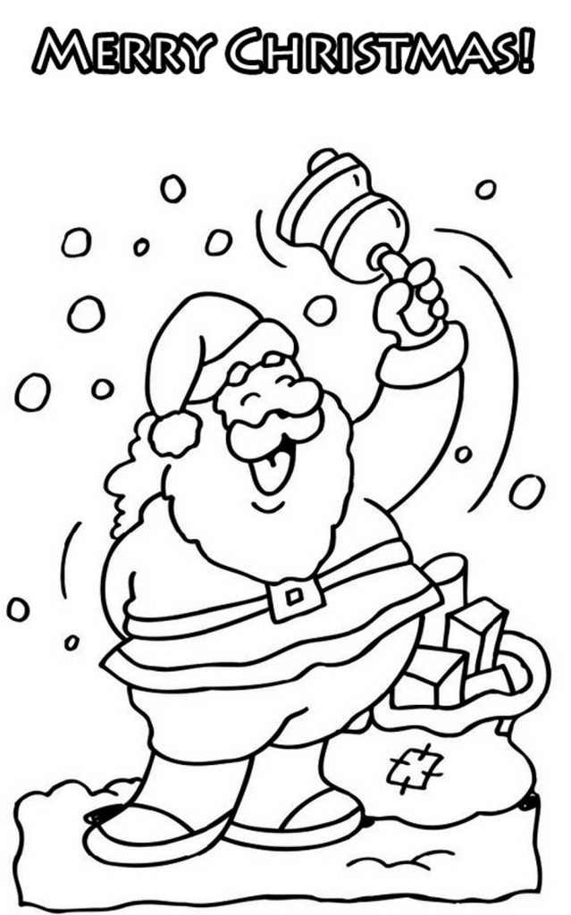 Merry Christmas Coloring Pages Happy