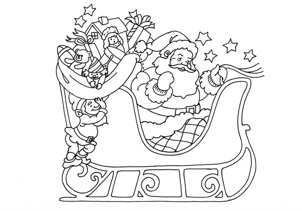 Merry Christmas Coloring Pages Santa Claus