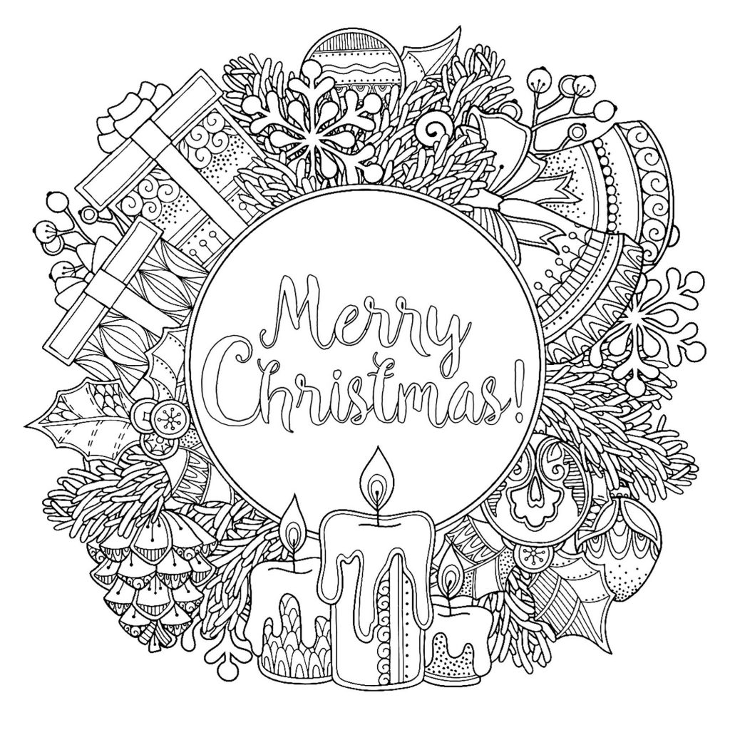Merry Christmas Coloring Pictures