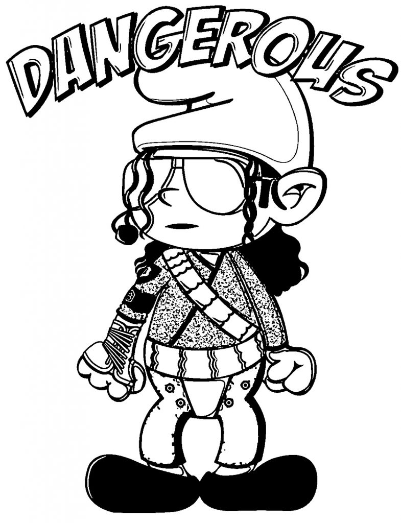 Michael Jackson Coloring Pages Easy