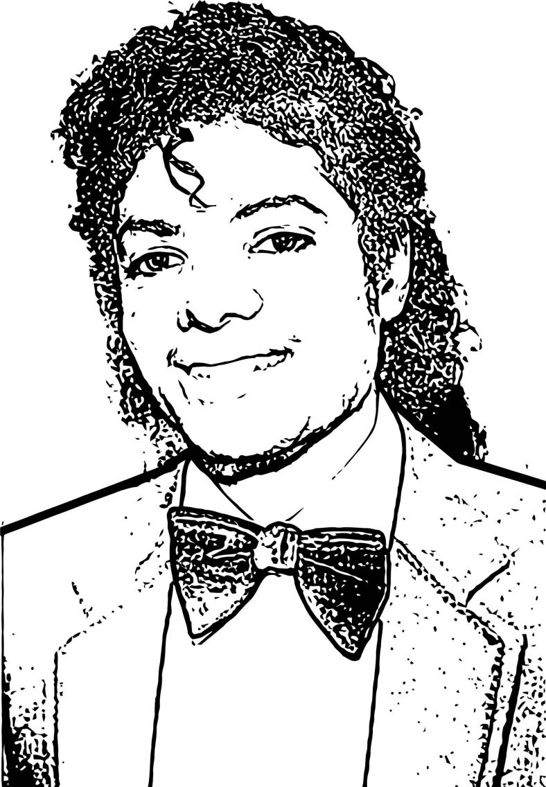 Michael Jackson Coloring Pages Face