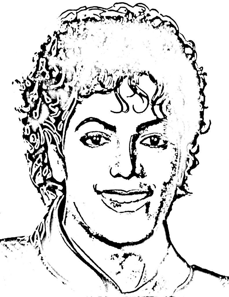 Michael Jackson Coloring Pages Sketch