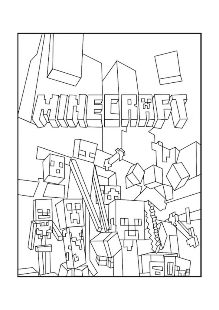 - Fun Minecraft Coloring Pages For Children 101 Coloring