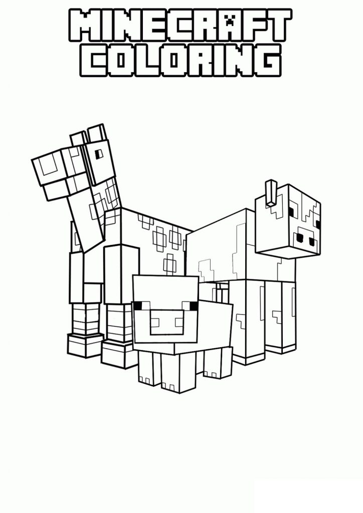 Fun Minecraft Coloring Pages for Children | 101 Coloring