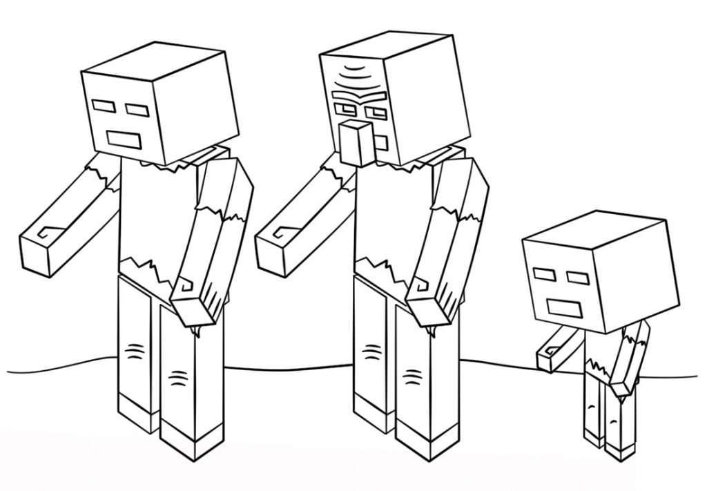 Minecraft Coloring Pages Zombies