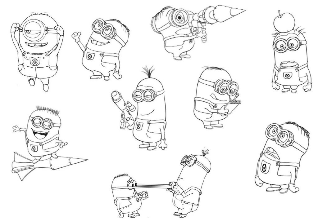 Minion Coloring Pages Characters