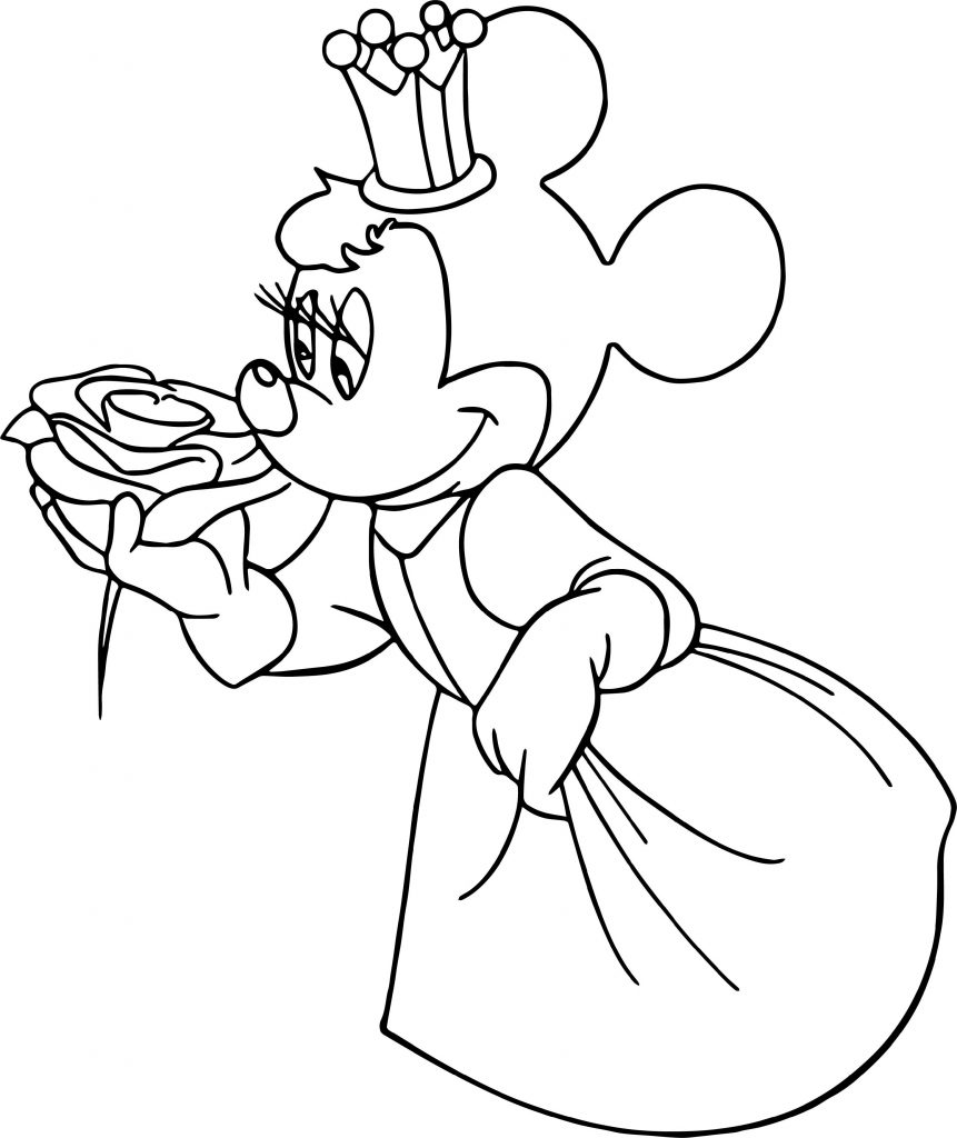 Minnie Coloring Pages Princess