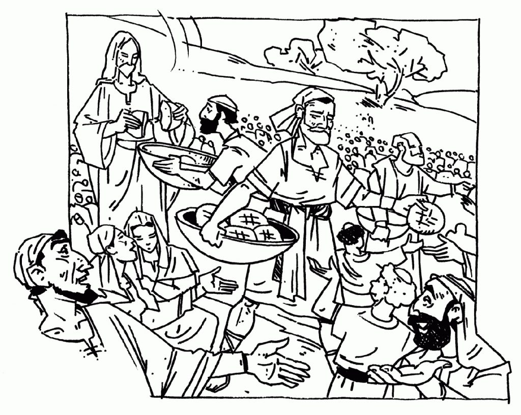Miracle Of Jesus Coloring Pages