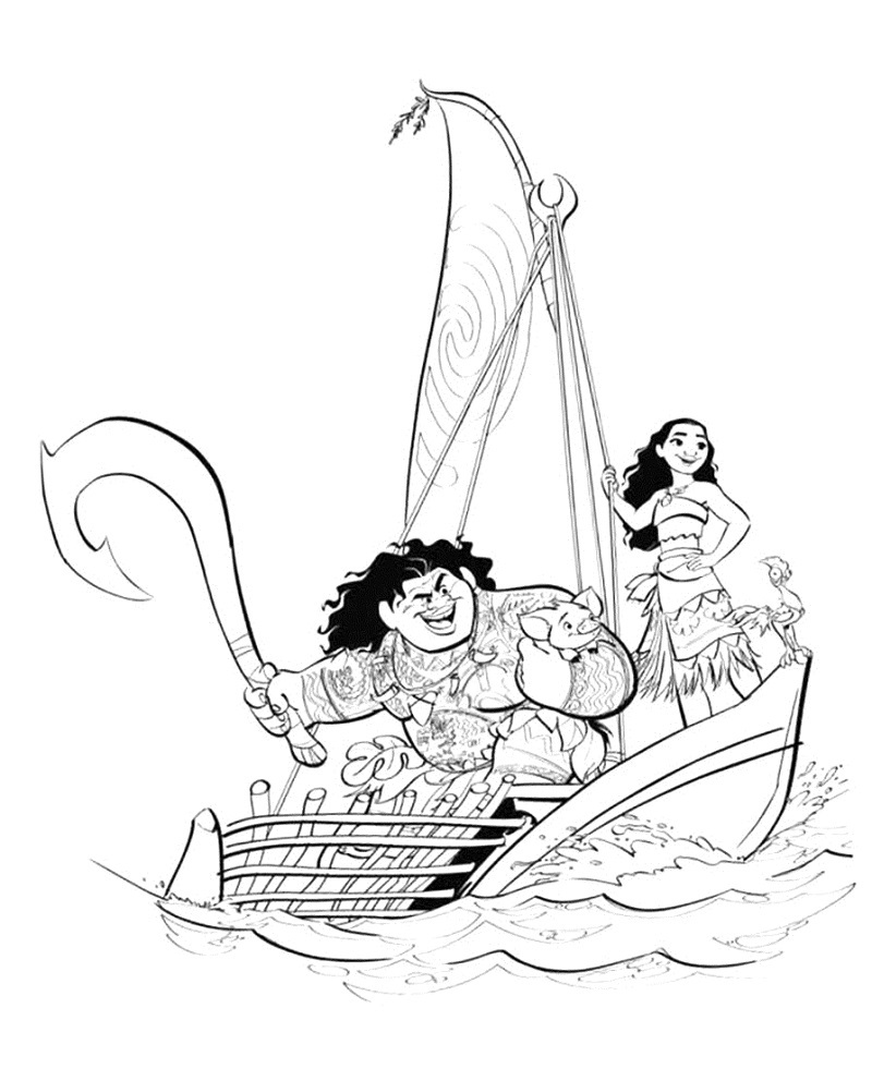 Moana Coloring Pages Disney