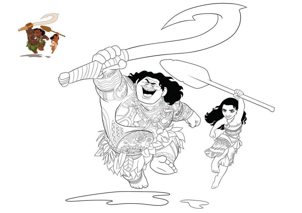 Moana Coloring Pages For Kids