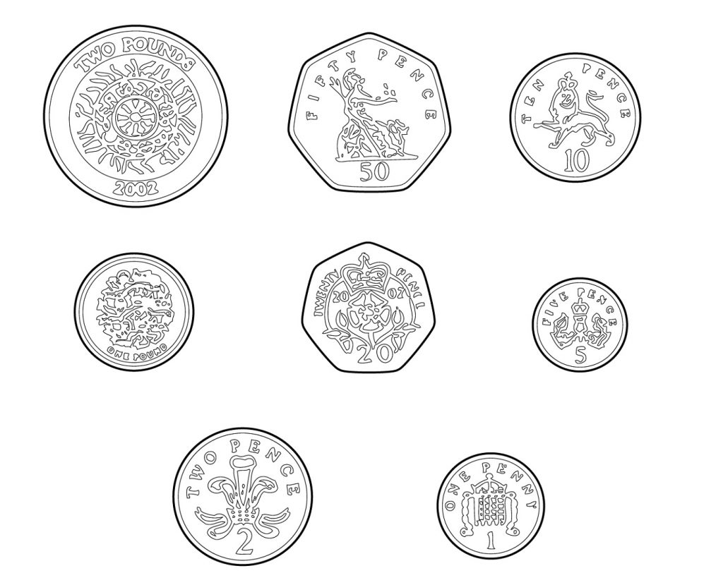 Money Coloring Pages Coin