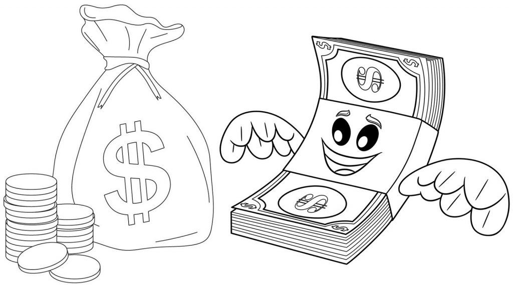 Money Coloring Pages Printable