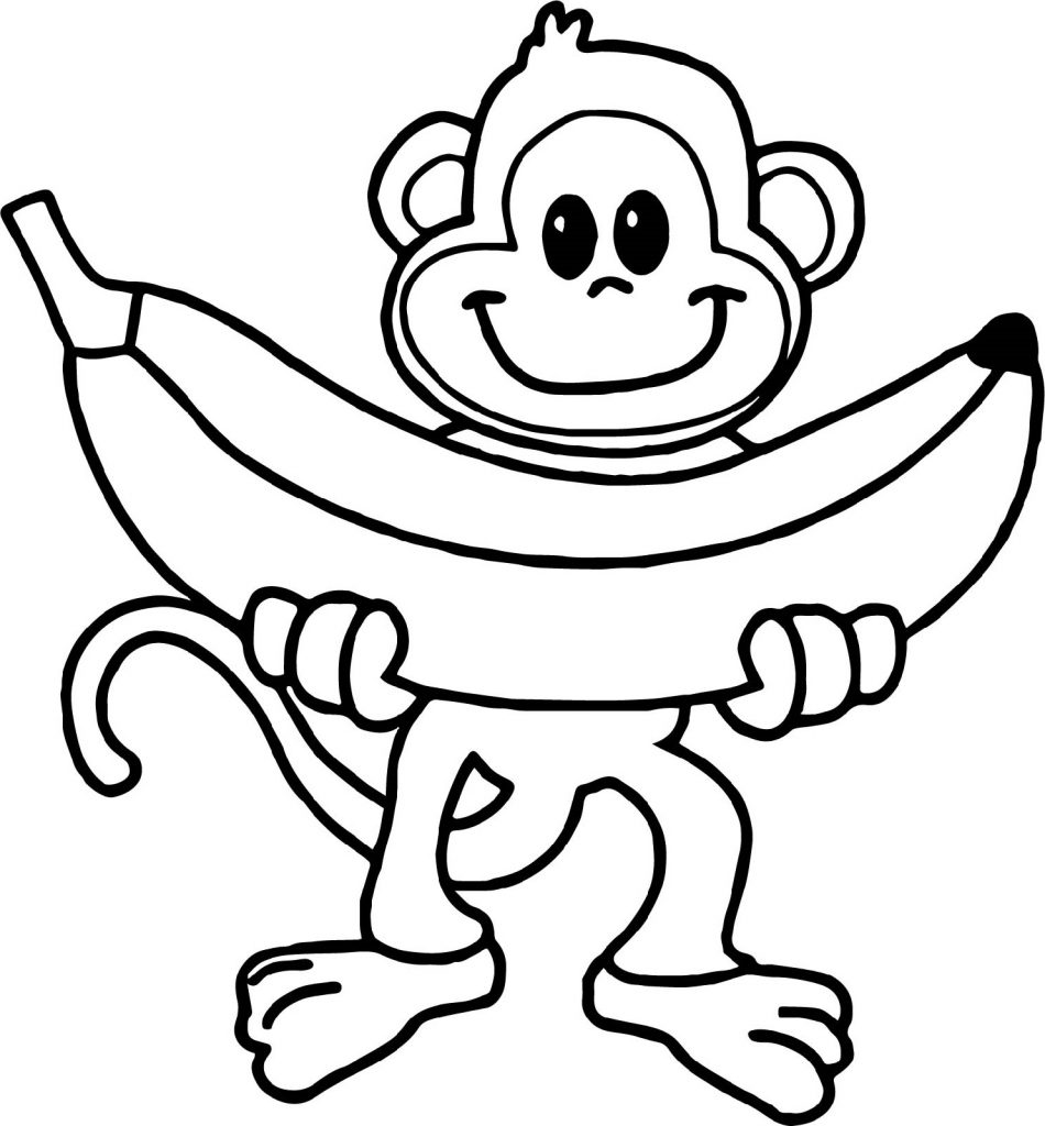 Free Printable Monkey Coloring Pages for Kids | 1024x950