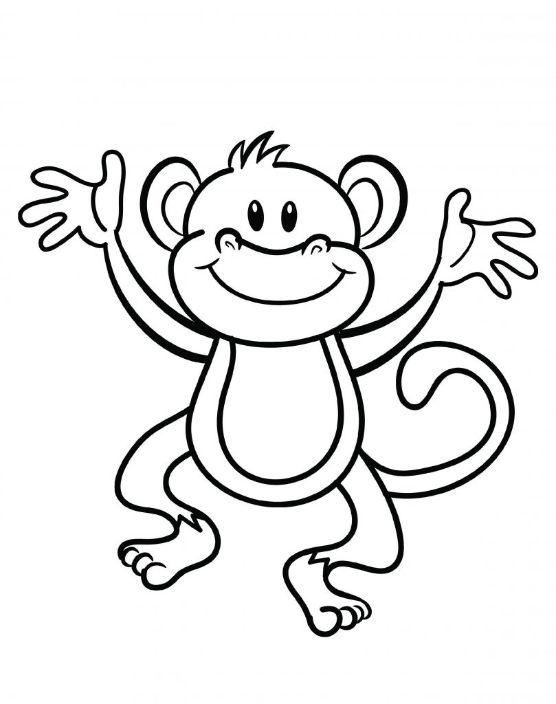 Monkey Coloring Pages Cute