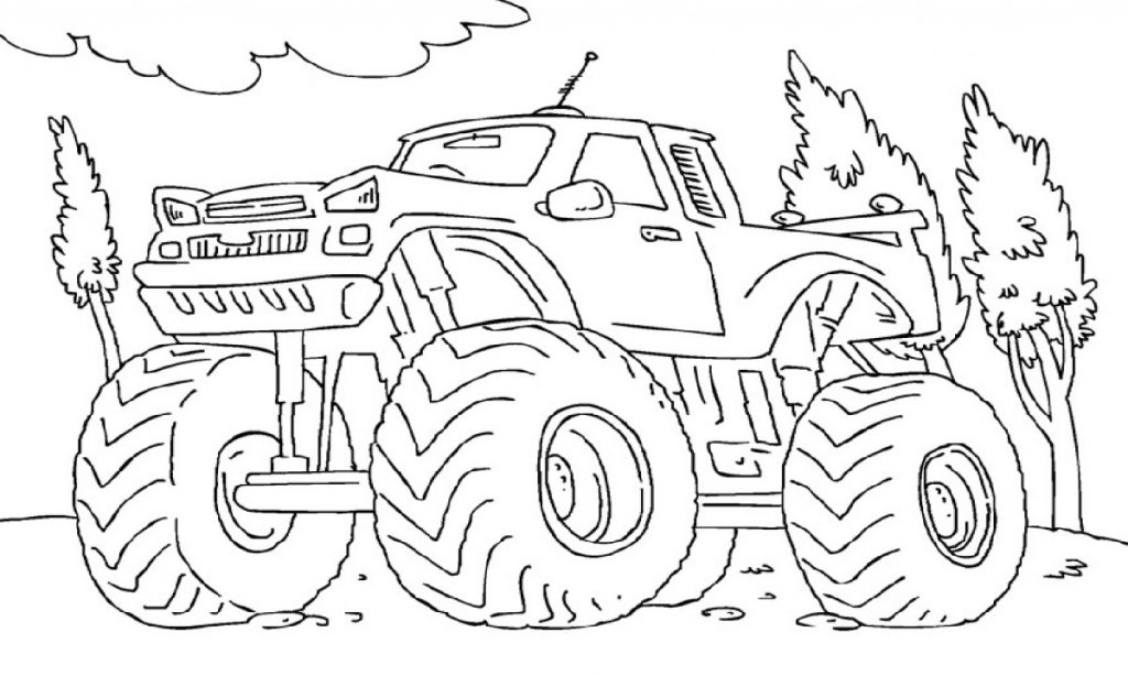 Monster Truck Coloring Pages Big Foot