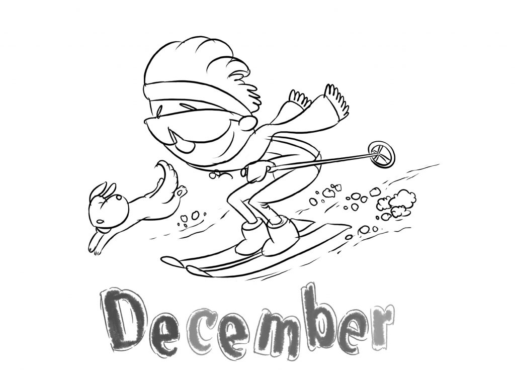 Month December Coloring Pages